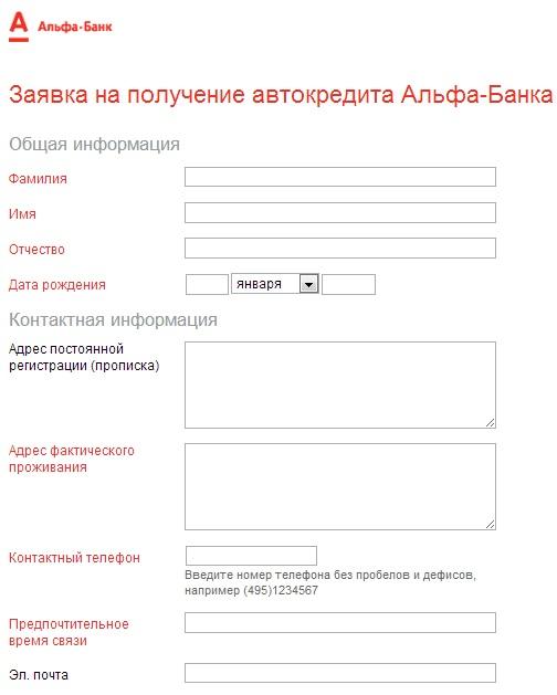 Требования к заемщику в Альфа-Банке